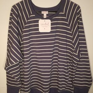 Isabel Maternity Striped Pullover NWT Size…